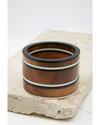 Forever 21 | Brown Contrast-trimmed Bangle Set | Lyst