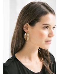 Mango | Metallic Hoop Earrings | Lyst