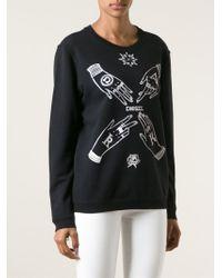 Diesel Black Gold - Black Hand Print Sweatshirt - Lyst