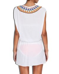 MILLY - White Cabana Murano Embroidered Jolla Dress - Lyst