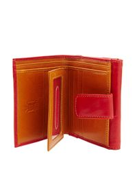 Tusk | Red Leather French Purse | Lyst