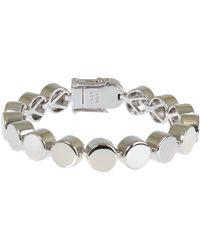 Eddie Borgo | Metallic Large Silver-Tone Cylinder Bracelet | Lyst