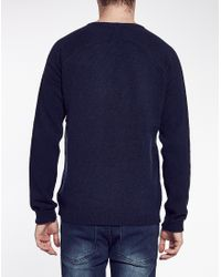 Cheap Monday - Blue Jumper In Slub Knit for Men - Lyst