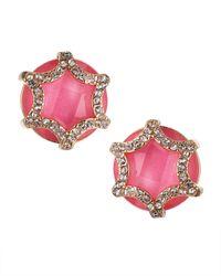 Fragments - Crystal Starburst Earrings Pink - Lyst