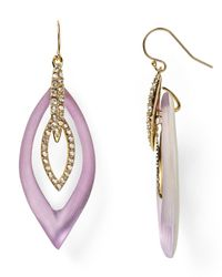 Alexis Bittar - Purple Crystal Pave Lucite Marquis Orbital Wire Earrings - Lyst