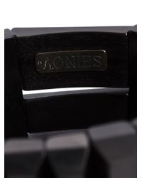 Monies | Black Facet Beads Bracelet | Lyst