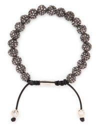 Nialaya | Black Crystal-embellished Bracelet for Men | Lyst