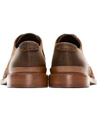 Rag & Bone - Brown Distressed Leather Archer Blind Brogues for Men - Lyst