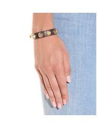 Balenciaga | Metallic Giant Stud Leather Bracelet | Lyst
