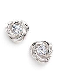 Lord & Taylor | Metallic Stud Earrings | Lyst