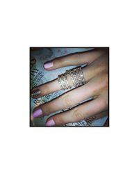 Henri Bendel | Metallic Double Down Ring | Lyst