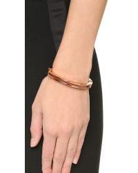 Miansai - Pink Split Layer Cuff Bracelet - Lyst