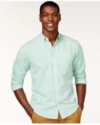 Tommy Hilfiger | Green John Heathered Button-down Shirt for Men | Lyst