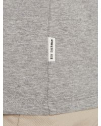Ben Sherman - Gray Geo Block Pattern Crew Neck Regular Fit T-shirt for Men - Lyst