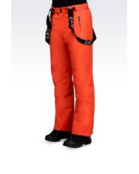 EA7 - Orange Technical Ski Trousers With Klinger And Thermore® Technology for Men - Lyst