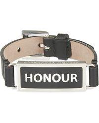 Alexander McQueen | Black Honour Bracelet | Lyst