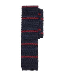 Brooks Brothers | Blue Stripe Knit Tie for Men | Lyst