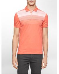 Calvin Klein | Pink White Label Classic Fit Chest Stripe Polo Shirt for Men | Lyst