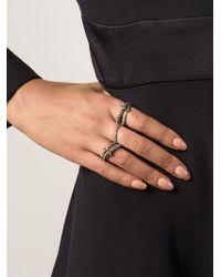 Spinelli Kilcollin - Black Pavé Diamond Linked Ring - Lyst