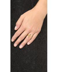Madewell - Metallic Cati Dot Ring - Lyst
