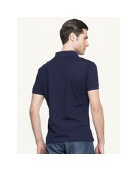 Ralph Lauren Black Label - Blue Mesh Zip Collar Polo Shirt for Men - Lyst