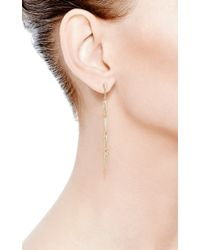 Eva Fehren - Metallic Five Fringe Earrings in 18k Yellow Gold and Pale Champagne Diamonds - Lyst