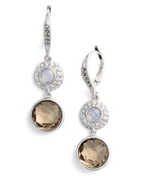 Judith Jack | Metallic Double Stone Drop Earrings | Lyst