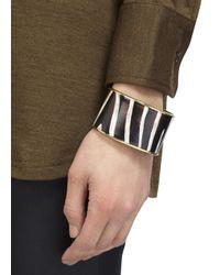Halcyon Days | Multicolor Zebra 18Kt Gold Trimmed Enamel Bangle | Lyst