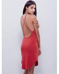Free People | Red Sassy Alexa Dress | Lyst