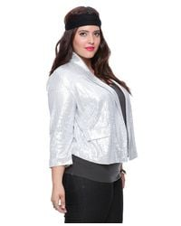 Forever 21 - Metallic Plus Size Sequined Blazer - Lyst