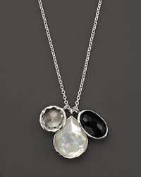 Ippolita - Black Sterling Silver Wonderland 3 Stone Charm Necklace In Astaire - Lyst