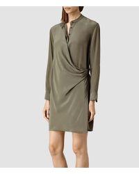 AllSaints | Natural Nicola Dress | Lyst