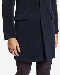 Ted Baker | Blue Deluxe Detachable Shearling Collar Coat for Men | Lyst