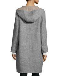Eileen Fisher | Gray Alpaca Double-face Knee-length Coat | Lyst