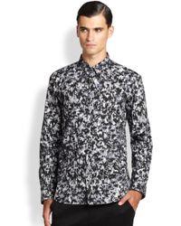 HUGO | Gray Camo Print Sportshirt for Men | Lyst