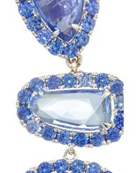 "Shawn Ames - One-Of-A-Kind ""Signature Sucre"" Blue Sapphires And Tanzanite Earrings - Lyst"