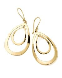 Ippolita | Metallic 18k Gold Open Double Teardrop Earrings | Lyst