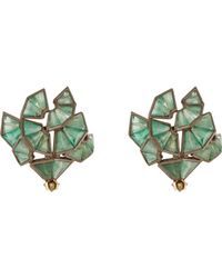 Nak Armstrong | Green Button Stud Earrings | Lyst