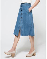 Farrow - Blue Jagger Skirt - Lyst