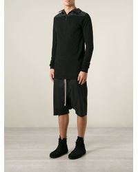 Rick Owens - Black Drop Crotch Shorts for Men - Lyst
