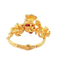 Alexander McQueen - Red Cherry Blossom Swarovski-Crystal Bracelet - Lyst