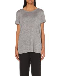 Vince | Gray Turn-up Jersey T-shirt | Lyst