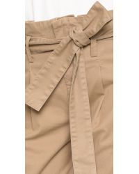 FRAME - Natural Le Skinny Paper Bag Trousers - Lyst