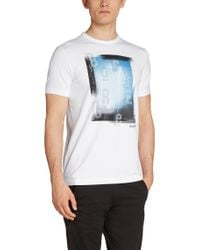 BOSS Green | White T-shirt 'tee 4' In A Cotton Blend for Men | Lyst