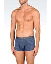 Emporio Armani | Gray Boxers for Men | Lyst