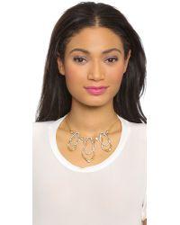 Alexis Bittar | Metallic Leaf Necklace - Gold | Lyst