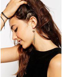 ASOS | Blue Mini Dreamcatcher Swing Earrings | Lyst