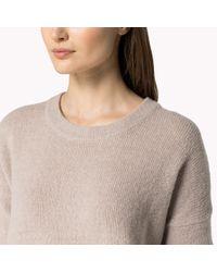 Tommy Hilfiger - Natural Wool Blend V-neck Sweater - Lyst