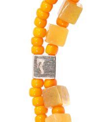 Luis Morais | Orange Gold, Olivine-Jade And Glass Bracelet for Men | Lyst