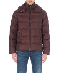 Michael Kors | Red Hooded Quilted Shell Jacket - For Men for Men | Lyst